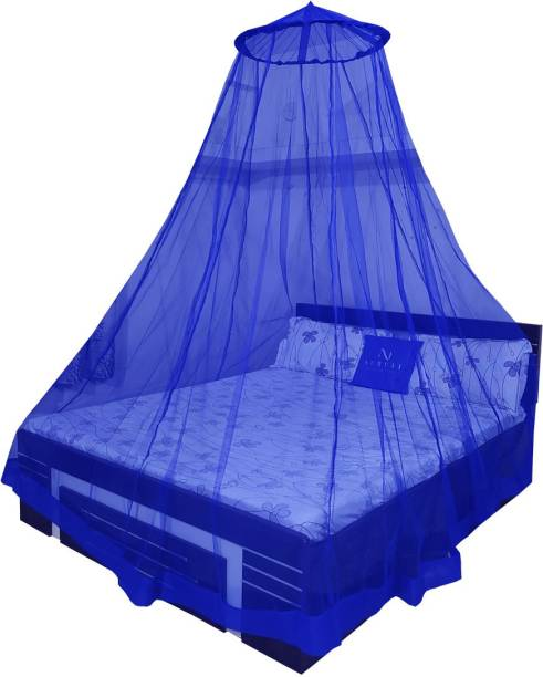 Neruti Enterprise Polyester Adults Double bed (Round) Mosquito Net