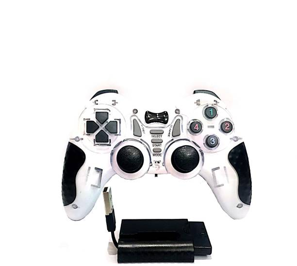Clubics Wireless 2.4 GHz Motion Game Controller 6-in-1 Gaming Controller (White)  Motion Controller