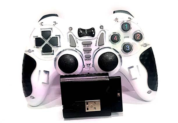 Clubics 2.4 GHz Wireless Motion Game Controller - 6-in-1 Controller (White)  Motion Controller