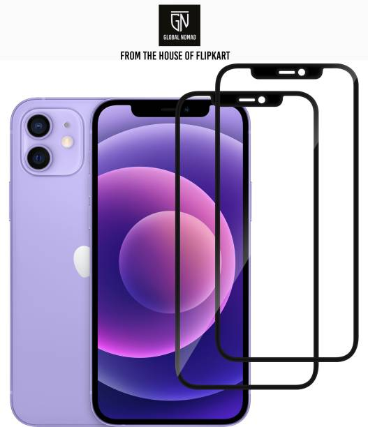 GLOBAL NOMAD Edge To Edge Tempered Glass for Apple Iphone 12, Apple IPhone 12 Pro
