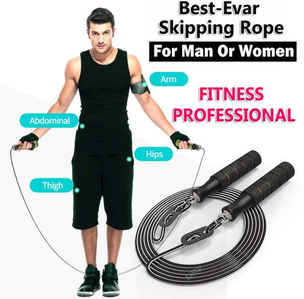 Best-Quality-Hub Skipping Ropes For Men Gym Jumping rassi jumping ropes for men Freestyle Skipping Rope