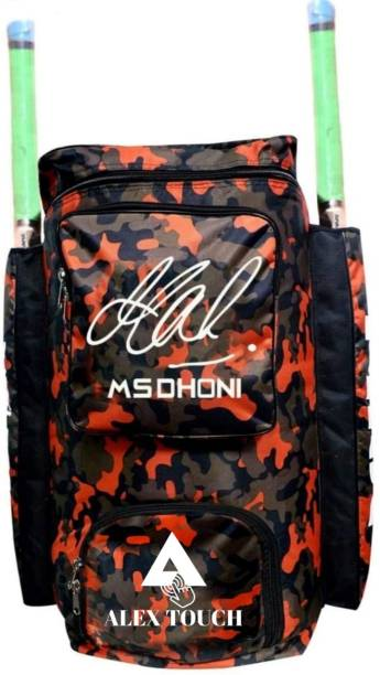 ALEXTOUCH Best Cricket Kit Bag With MS Dhoni Signature Red