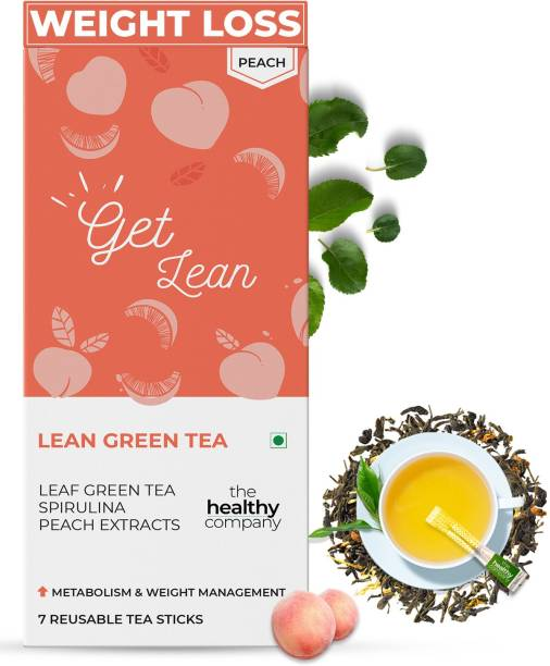 THE HEALTHY COMPANY Natural Lean Green Tea Sticks (Box of 1) - Diabetes, PCOD, Thyroid & Keto - Men & Women… Citrus Infusion Tea Bags Box