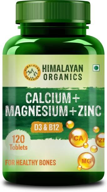 Himalayan Organics Calcium+Magnesium+Zinc D3 & B12 120 Tablet