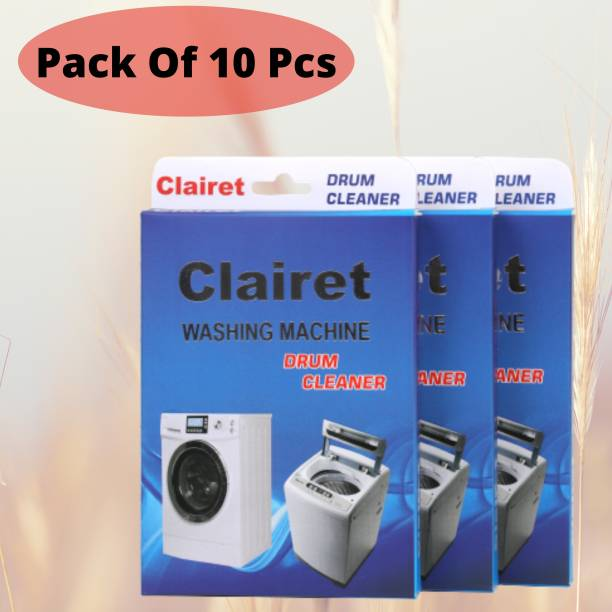 CLAIRET Washing Machine descale powder pack of 10 ( 100 Grams In Each Pack ) Detergent Powder 1000 g