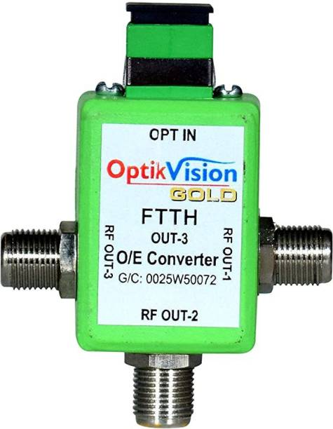 optik vision gold FTTH Powerless Node Optical Receiver Fiber 3 Out Coaxial Wire Connector