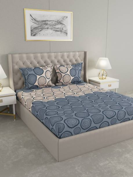 Raymond Home 160 TC Cotton Double Abstract Bedsheet