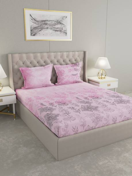 Raymond Home 160 TC Cotton Double Floral Bedsheet