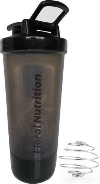 Floral Nutrition Gym Shaker Pro bottle with Spring Black bottle 500 ml 500 ml Shaker