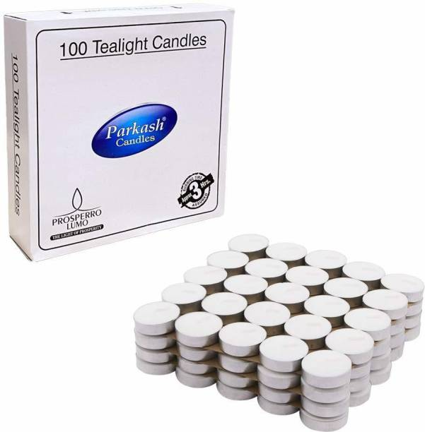 Parkash Candles Tealight Candles Pack of 100 Candle
