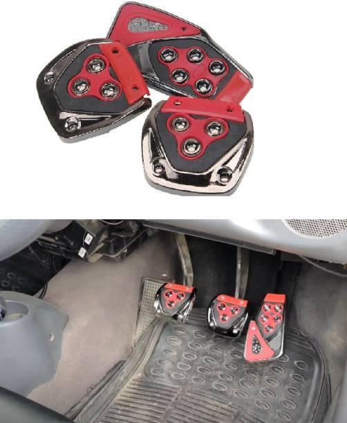 SRPHERE 3 Pcs Generic Non-Slip Racing Sport Manual Car Truck Pedals kit Pad Covers Set-Universal car Car Pedal Red Car Pedal