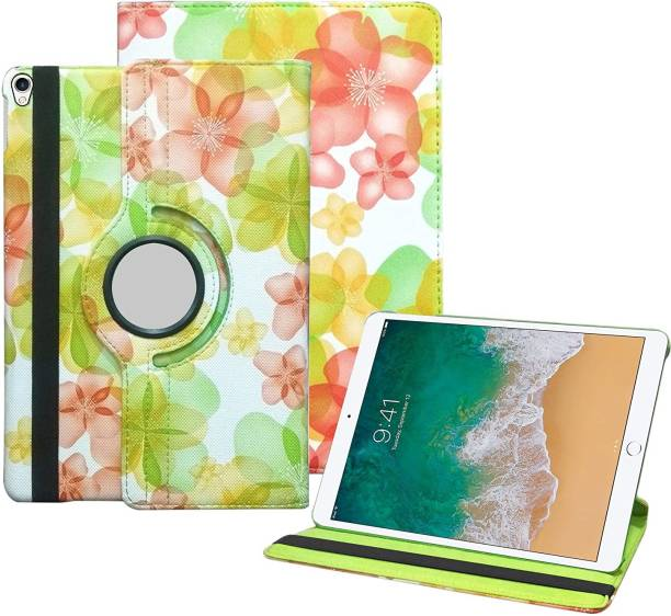 TGK Book Cover for Apple iPad Pro 10.5 inch 2017 (A1701/A1709) Flower Design Flip Case with (Auto Sleep/Wake)