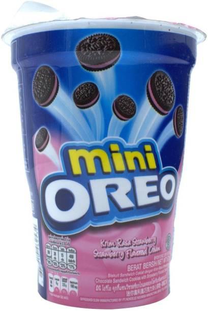 OREO Mini, Strawberry Flavored Cream - 67g Cream Filled