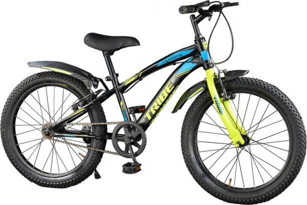 Lifelong Tribe 20T, Matte Black and Fluorescent yellow 20 T Road Cycle