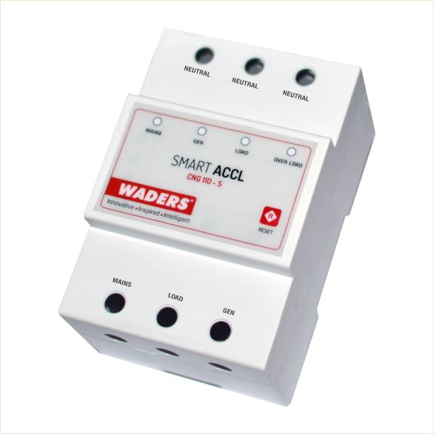 Waders Automatic Changeover Switch with Circuit Breaker ACCL ACCL-EB:20A-Gen:5A MCB