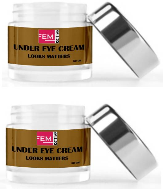 femoctive UNDER EYE CREAM (Delighted With Coffee's And Aloe vera Gel's benefits) (100 gm)