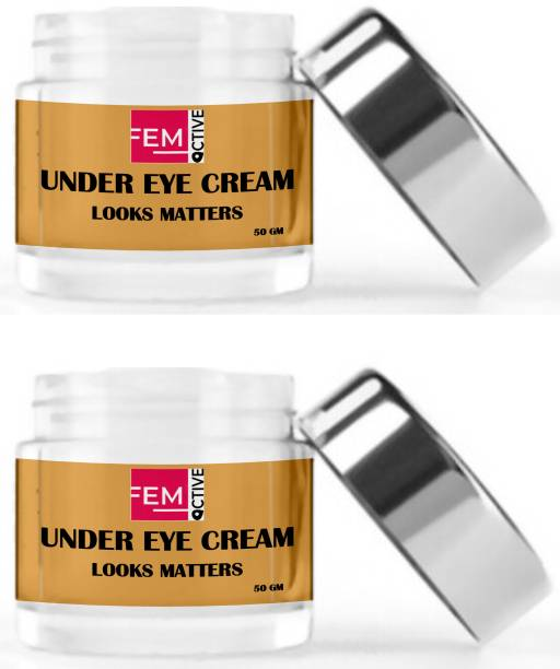 femoctive NATURAL UNDER EYE CREAM (Enriched With Coffee's And Cucumber Gel's Benefits ) (100 gm)