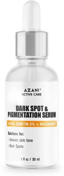 Azani Active Care Dark Spot & Pigmentation Serum  Removes Dark Spots  2% Alpha Arbutin, Niacinamide to Remove Blemishes, Acne Marks & Tanning