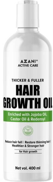 Azani Active Care Hair Growth Oil for thicker and fuller hair Jojoba Oil, Castor Oil, Redensyl Hair Oil