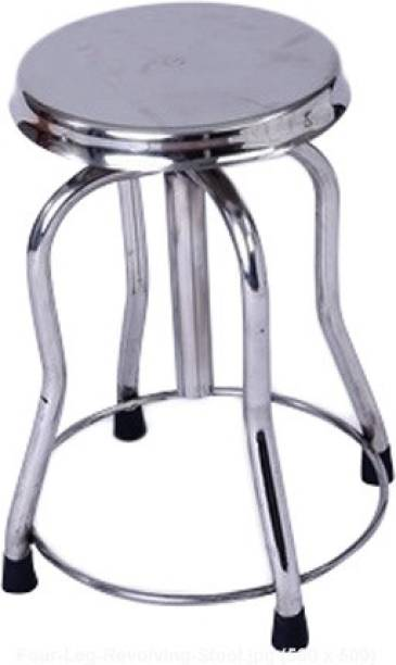Firstcare Doctor Patient Rotating Stool 4 Leg Fully Stainless Steel Hospital Food Stool