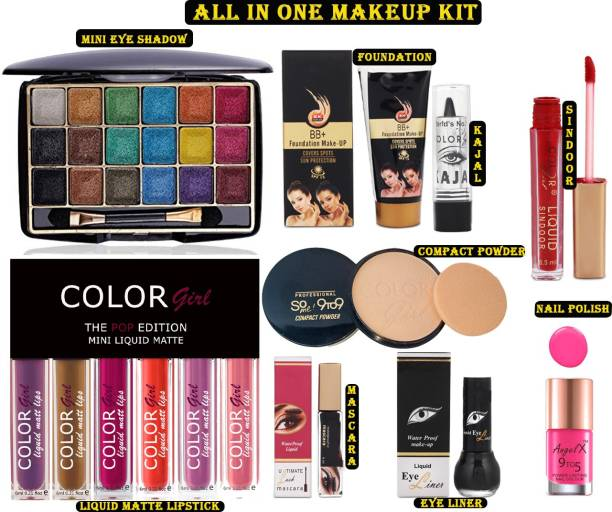 Color Girl All in One MakeUp Kit Combo For Women/Girls Set of 14 CGGR4