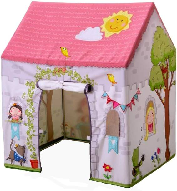 sukan tex Jumbo Size Extremely Light Weight , Water Proof Kids Play Tent House for 10 Year Old Girls and Boys pink queen house