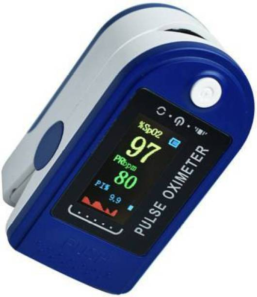 Dr. Oxiblue FZ33ZPulse Oximeter Digital LED spo2 pulse oximeter best fingertip Oxymeters For Oxygen Level oxygen meter finger oximeter With Battery Included (CE, FCC & ROHS Certified) BLUE pulse oximeter Pulse Oximeter