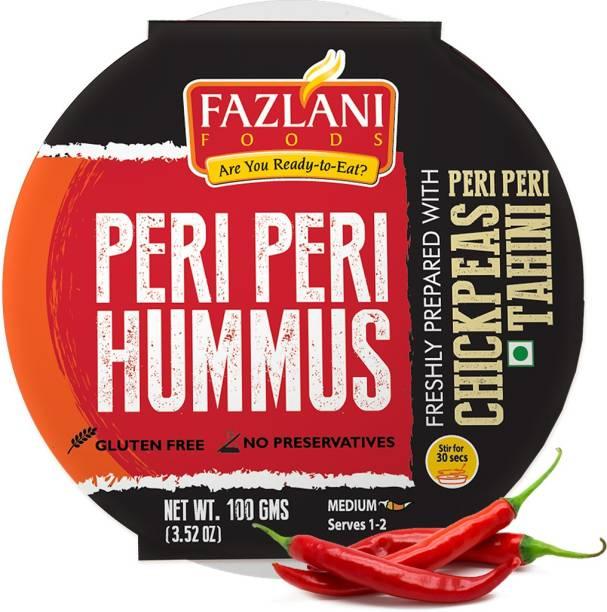 FAZLANI FOODS Ready to Eat Peri Peri Hummus Shelf Stable & Gluten Free - 100gm 100 g