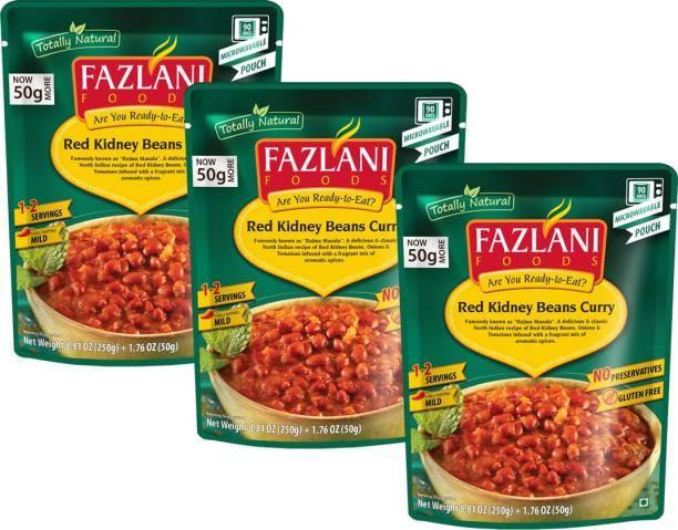 FAZLANI FOODS Rajma Masala (Red Kidney Beans) Curry, (Pack of 3, 250gm each) 750 g