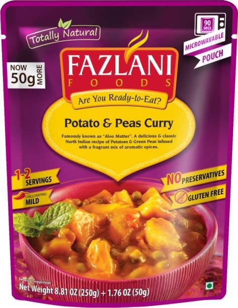 FAZLANI FOODS Aloo Mutter (Potato & Peas) Curry, (Pack of 1, 250gm) 250 g