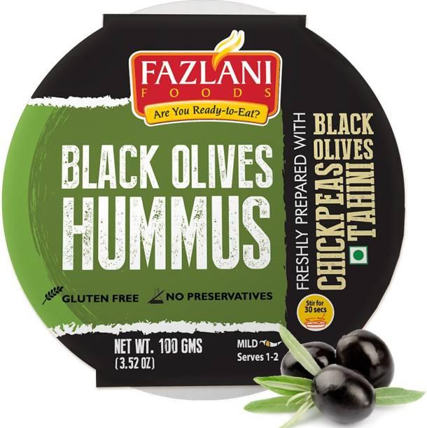 FAZLANI FOODS Ready to Eat Black Olives Hummus Shelf Stable & Gluten Free - 100gm 100 g