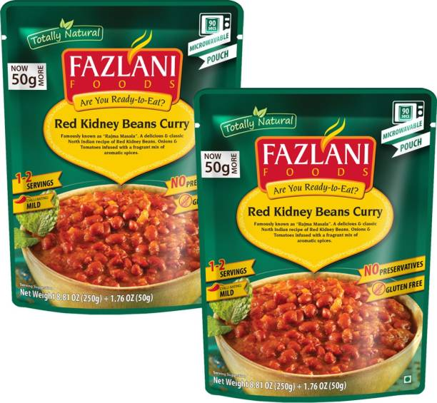 FAZLANI FOODS Rajma (Red Kidney Beans) Curry, (Pack of 2, 250gm each) 500 g