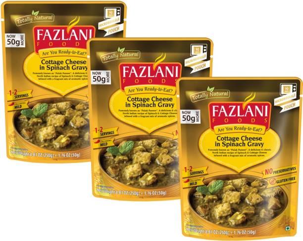 FAZLANI FOODS Palak Paneer Curry, (Pack of 3, 250gm each) 750 g