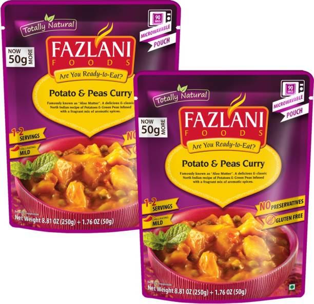 FAZLANI FOODS Aloo Mutter(Potato & Peas) Curry, (Pack of 2, 250gm each) 500 g
