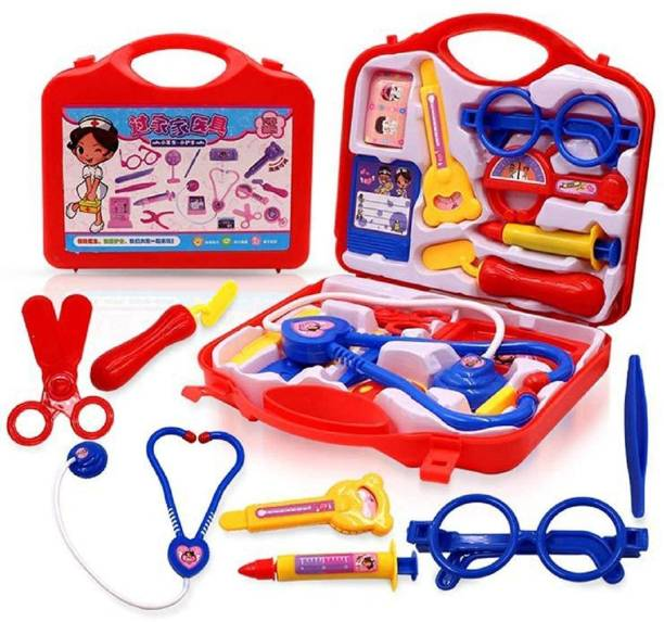 BVM GROUP Doctor Kit Toy Set for Kids Pretend Play Non Toxic Doctor Kit Set for Baby Girl Boys Kids Indoor Game Best Gift for Birthday Festivals