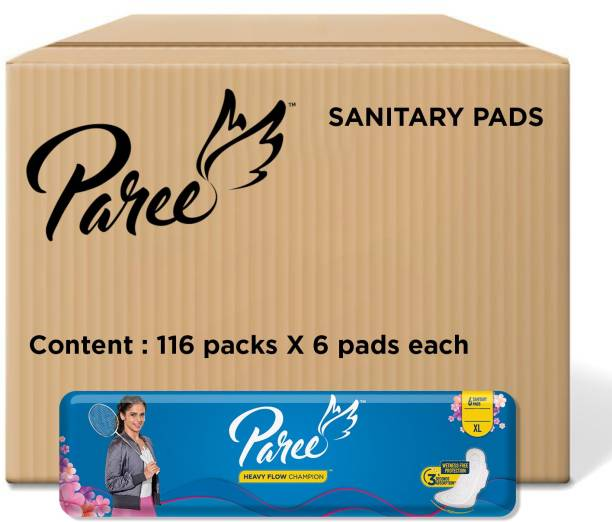 Paree Dry Feel XL - 6 Pads (Combo of 116) Sanitary Pad