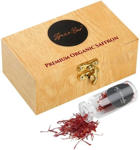 Spice Bar Certified Premium Organic Saffron / Kesar Thread 1 Gram