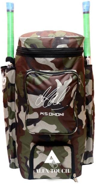 ALEXTOUCH Best MS Dhoni Signature Cricket Kit Bag Dashing Green Army Full Padded Inside