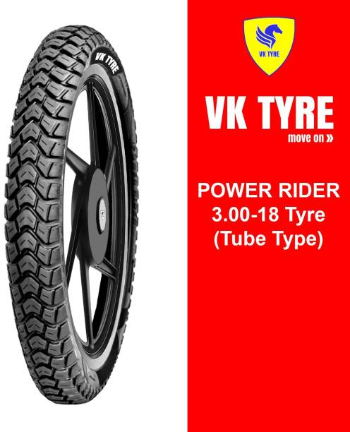 VK TYRE POWER RIDER 3.00-18 Rear Tyre