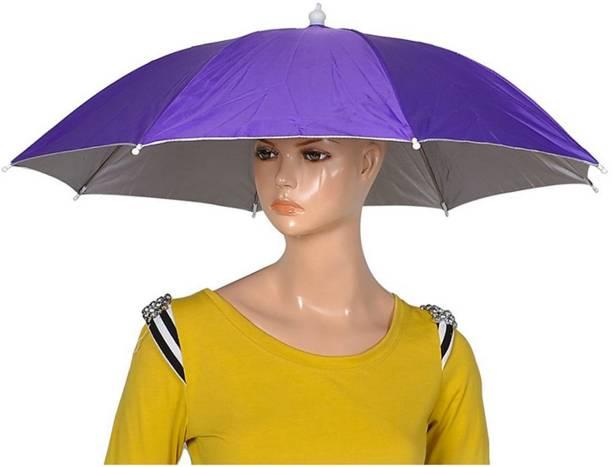 Rainpopson Hat Umbrella for Kids Girls & Boys Purple Color Cap Hat Umbrella for Kids Hat Umbrella