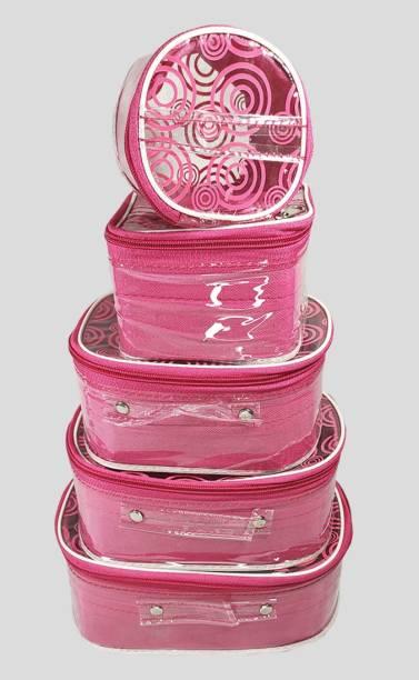 Ology Multipurpose Set of 5pc Cosmetic vanity box, Makeup Kit box, Storage organizer makeup, jewellery, cosmetics Vanity Box