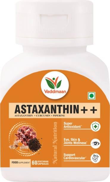 vaddmaan Natural Astaxanthin 20%, Piperine 95% Super Antioxidant, Brain & General Wellness