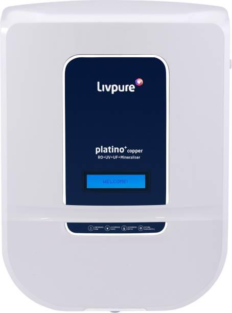 LIVPURE LIV-PLATINO-PLUS-COPPER2000 8.5 L RO + UV + UF + Minerals + Copper Water Purifier