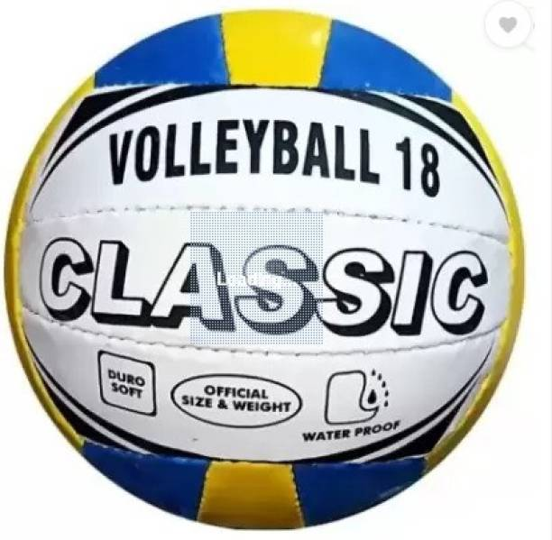 mass enterprises meerut mass classic-19 volleyball with air pin Volleyball - Size: 4
