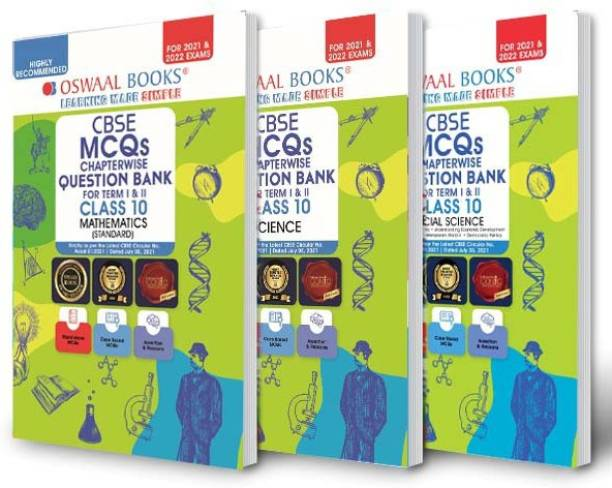 Oswaal Cbse MCQS Chapterwise for Term I & II, Class 10 (Set of 3 Books) Mathematics (Standard), Science, Social Science (with the Largest MCQ Question Pool for 2021-22 Exam)
