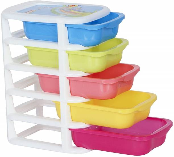 Nabhya Cosmetic & Make-up Organizers Small Size Drawer (20.5 cm,16 cm,37 cm) Plastic Free Standing Chest of Drawers