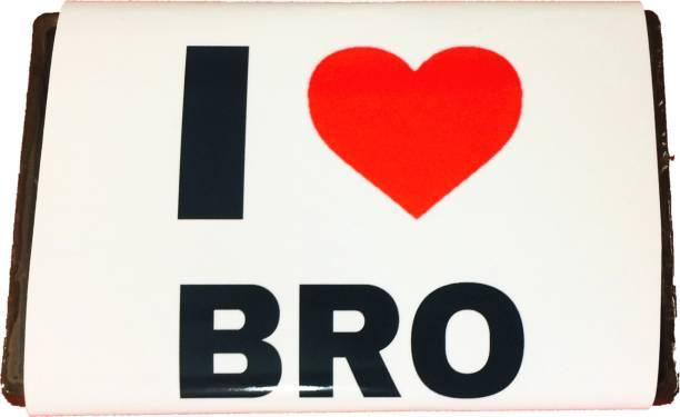 Expelite Rakhi Gift for brother- I love Bro-Nuts Chocolate Bar Bars