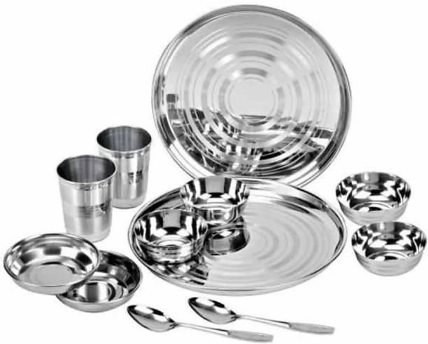 Flipkart SmartBuy Pack of 12 Stainless Steel Dinner Set