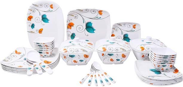Flipkart SmartBuy Pack of 40 Melamin Multicolor Beautiful Leafs Print Dinner Set