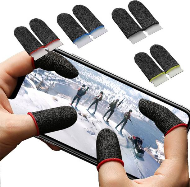 balaji trading company Thumb & Finger Sleeves for Mobile Gaming, Anti-Sweat | Breathable for PUBG BGMI | COD | FREEFIRE | FORTNITE Finger Gloves | Finger Cover for PUBG (1 Pair)  Gaming Accessory Kit
